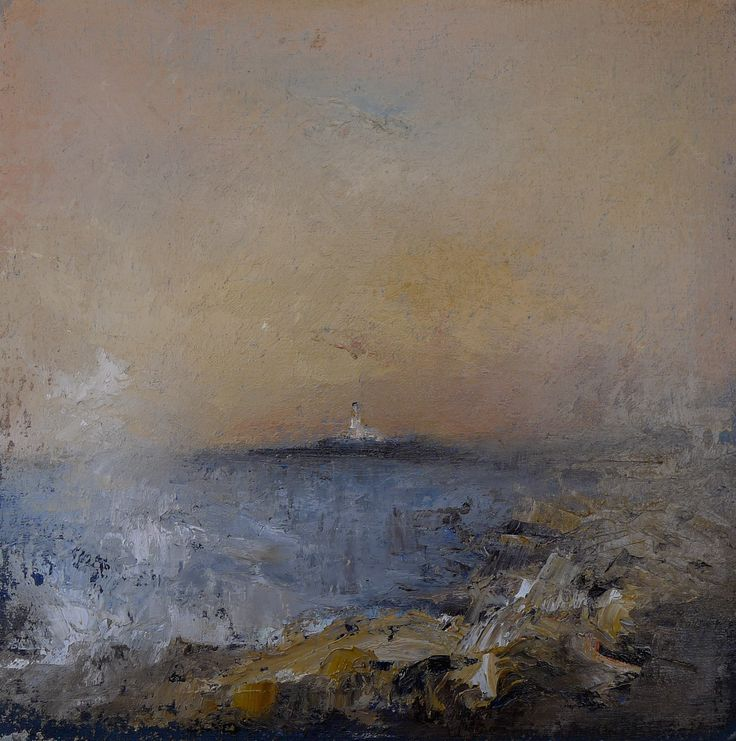 Turnberry Sunset 9 x 9 inches oil on board