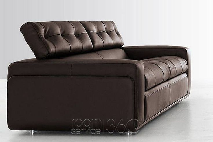 Hugo Italian Leather Sofa by Contempo
