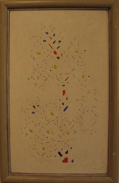 Bart van der Leck, Compositie van lelies, 1922