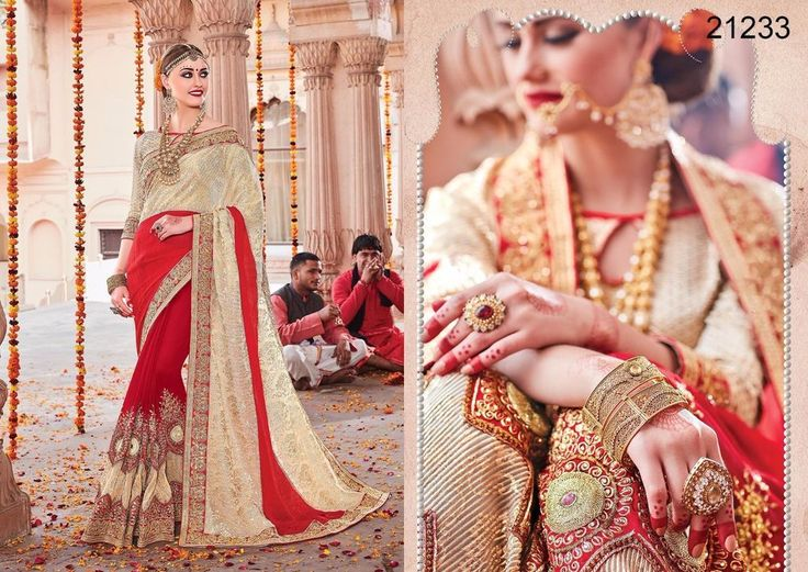 Indian Partywear Ethnic Wedding Pakistani Bollywood Saree Dress Sari Designer #TanishiFashion #DesignerSaree