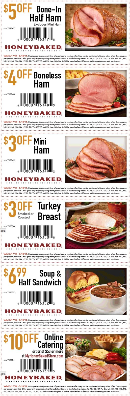 image about Honey Baked Ham Printable Coupons identified as Coupon honey - 6 02 discount codes