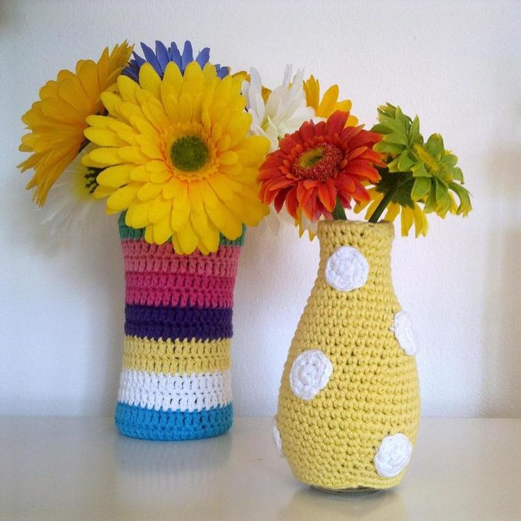 Crochet Vase Cozy « The Yarn Box The Yarn Box?.... Cover a wine bottle?