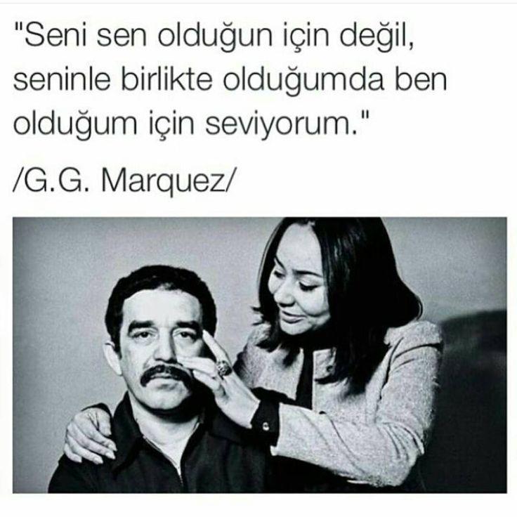 Seni sen olduğun için değil, seninle birlikte olduğumda ben olduğum için seviyorum.   - Gabriel García Márquez  #sözler #anlamlısözler #güzelsözler #manalısözler #özlüsözler #alıntı #alıntılar #alıntıdır #alıntısözler