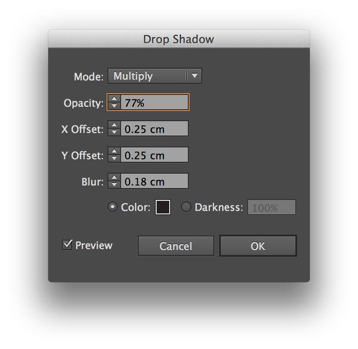 Photoshop - type shadow effect
