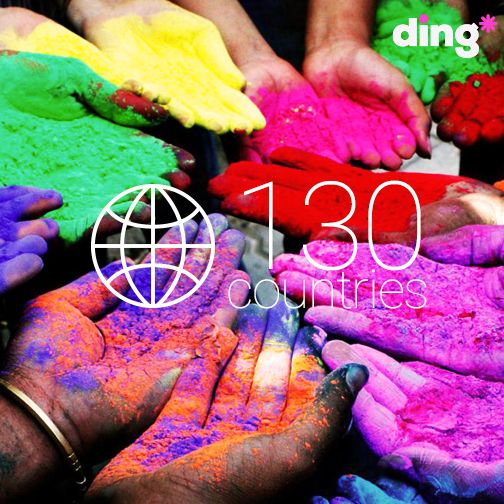 Did you know that Ding is available in 130 countries?
