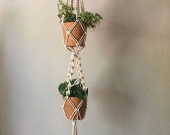 Dubbele Macrame Plant Hanger - Small