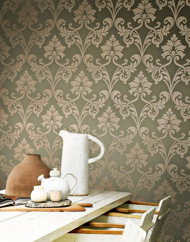 miss passion contains a detailed contemporary damask pattern match them up with their coordinating plains - Contemporary Damask Wallpaper