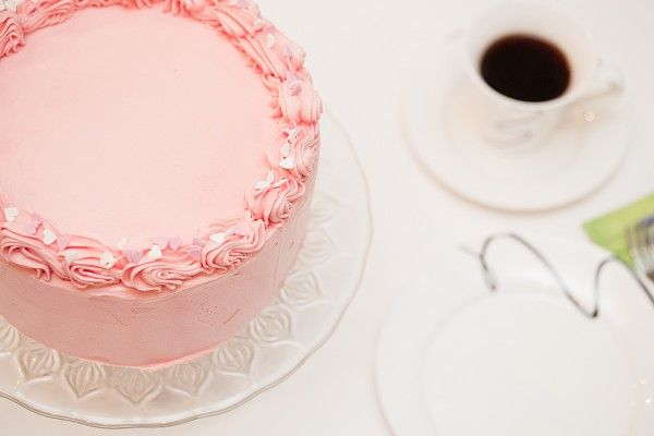 Rosa sjokoladekake