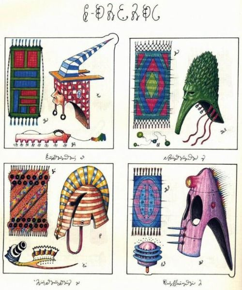 The Codex Seraphinianus is a book written and illustrated by the Italian artist, architect and industrial designer Luigi Serafini