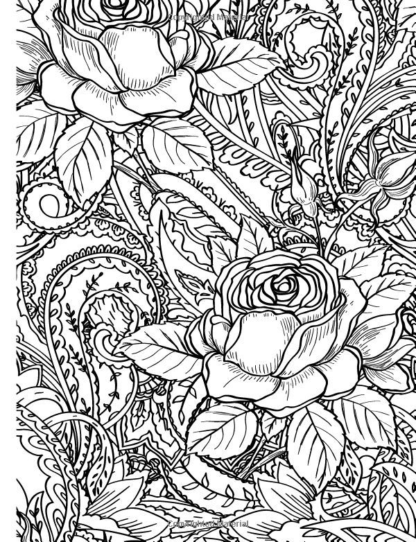 271 best Rose Art - coloring pages images on Pinterest