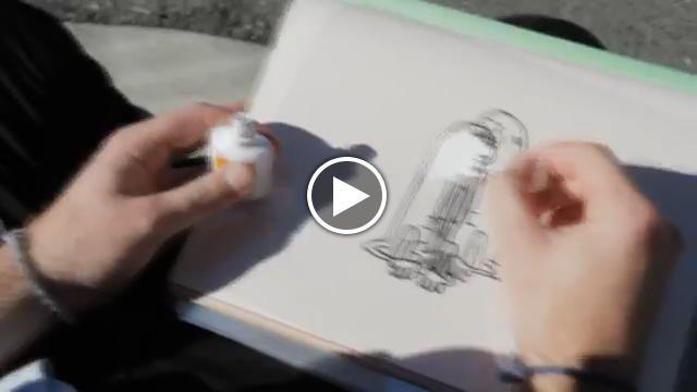 Disegni animati che modificano la realtà. Lo storyboard artist di San Francisco, Marty Cooper (in arte Hombre_McSteez) dà vita ai suoi personaggi...