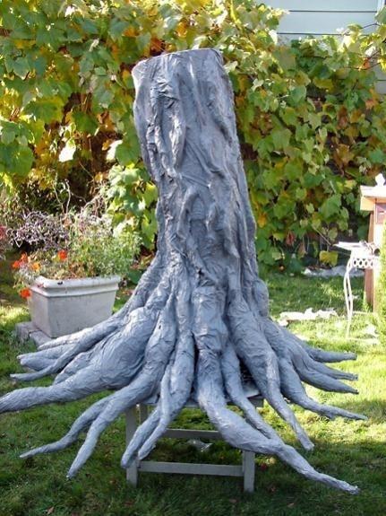paper mache tree process