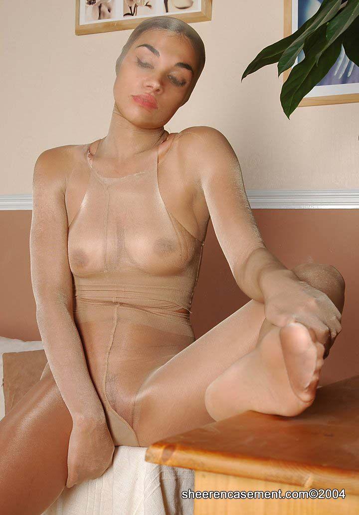 Encased nylon tights perverts part 2