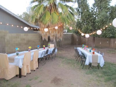 Here Was The Set Up Of Our Backyard Engagement Party