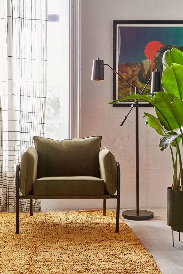 Home Apartment Furniture Slide View 1 Howell Canvas Arm Chair