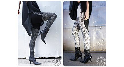Night Lace Cat Leggings by Carousel Ink, Express Your Inner Fairy Tale