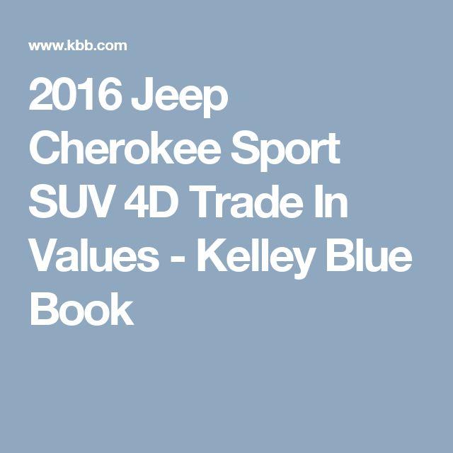 2016 Jeep Cherokee Sport SUV 4D Trade In Values - Kelley Blue Book