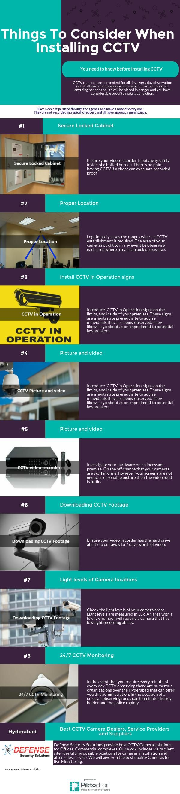 Defense Security offered CCTV Camera Installation Service in Hyderabad.  We provide CCTV Camera Installation Service with Affordability. http://www.defensesecurity.in/