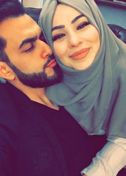 Image de couple, محجبات, and lové