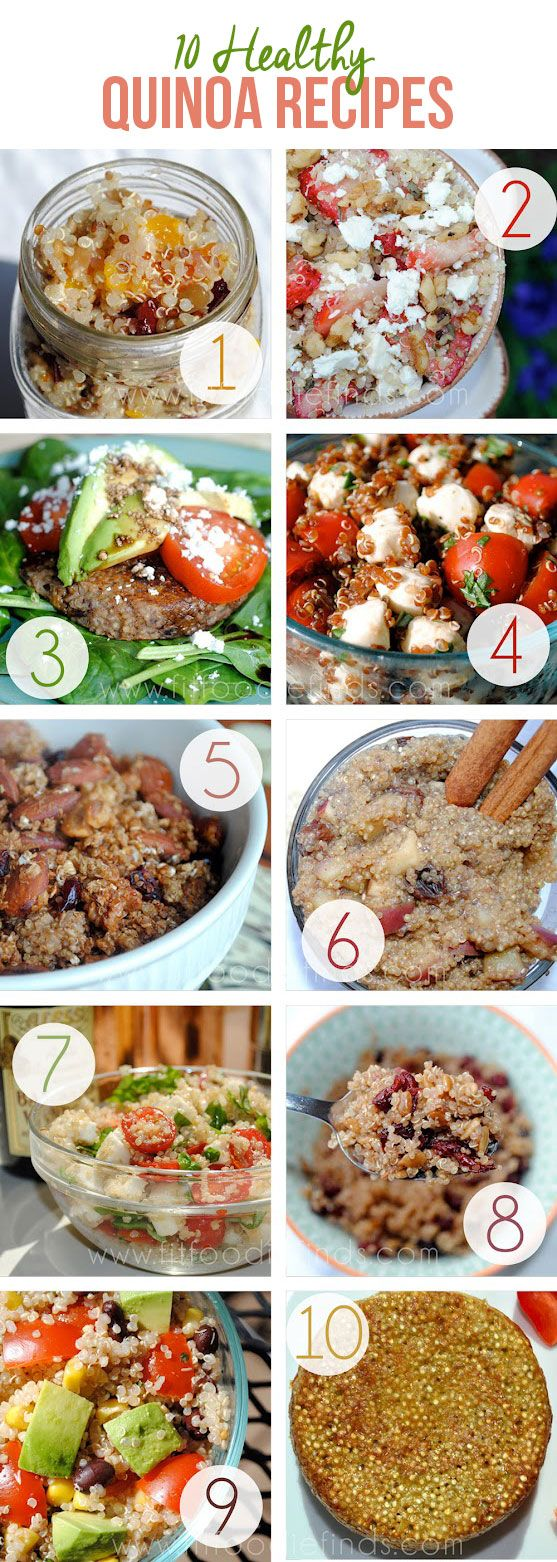 10 Healthy Quinoa Recipes from FITFOODIEFINDS.COM #FitFluental #GlutenFree