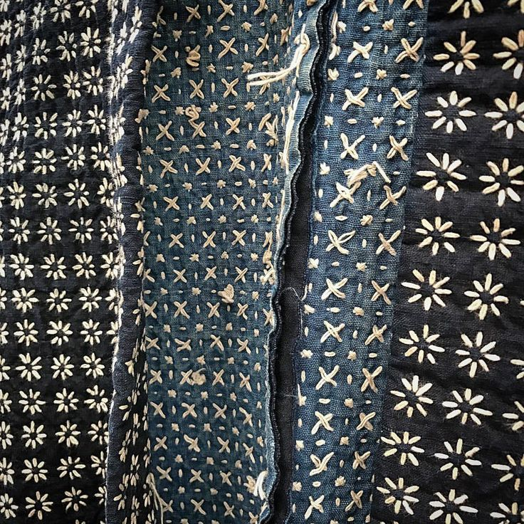 Close up #sashiko detail of inner #indigo #samurai jacket. #japanese #vintage #handstitched #art