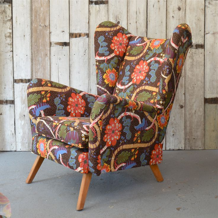 One from our archive - a bespoke 50's chair that was upholstered in a beautiful Josef Franck fabric from Svenskt Tenn