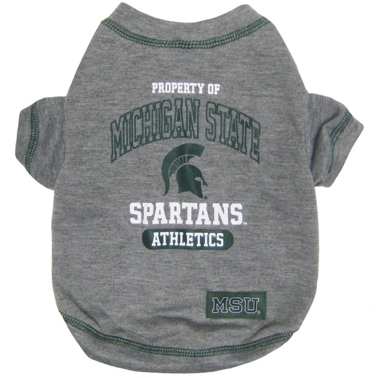 Michigan State Pet Tee Shirt Michigan state spartans