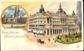 """Das Dom-Hotel ist eines der ältesten Grand Hotels in Europa. Um 1840 konnten im neuen """"Hôtel du Dôme"""" oder """"Dome Hotel"""" die ersten Gäste übernachten. Albert Harff richtete Konzerte, Maskenbälle und…"""