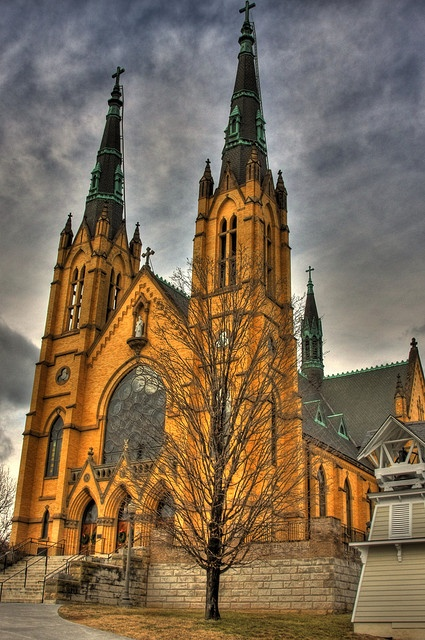 This church is beautiful inside and out.. Roanoke Va...THIS IS A VICTORIAN GOTHIC STYLE CHURCH IN MY HOMETOWN.