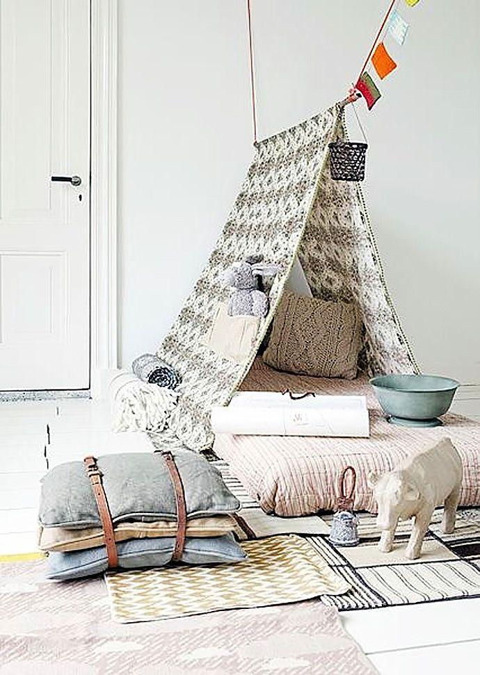 DIY tipi/play tent for kids via brit & co