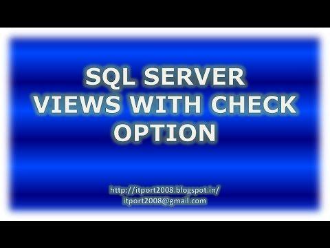 IT Port: SQL Server Views Check Option