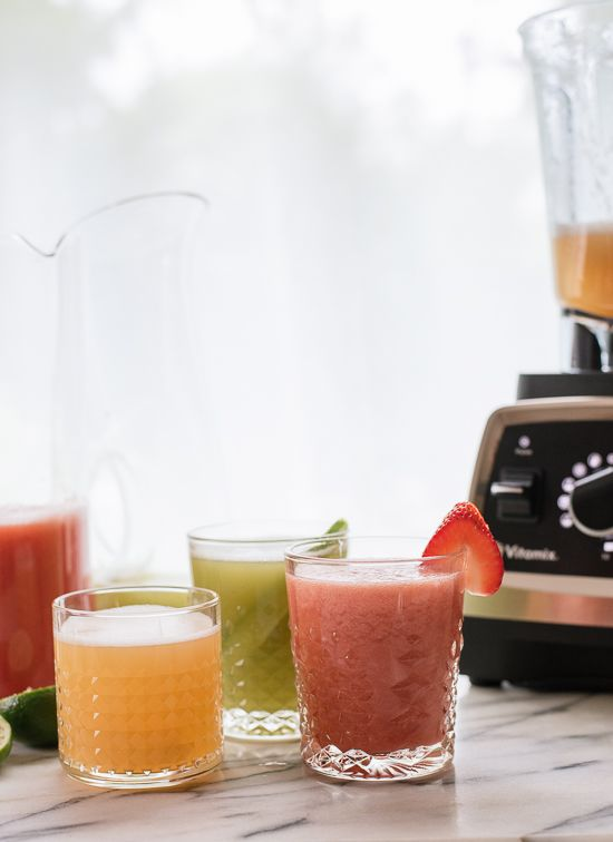 Strawberry, cantaloupe and cucumber mint aguas frescas! So refreshing. Post brought to you by @vitamix! - cookieandkate.com