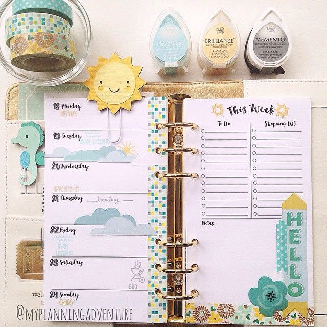 myplanningadventure: My week...now to fill it in. #vacationcatchup #planner #plannernerd #prettyplanners #colorcrush #websterspages #filofax #plannerclips #washi #washitap #mtwashi #littleb #kawaiipaperie #plannerstamping #thesweetstampshop