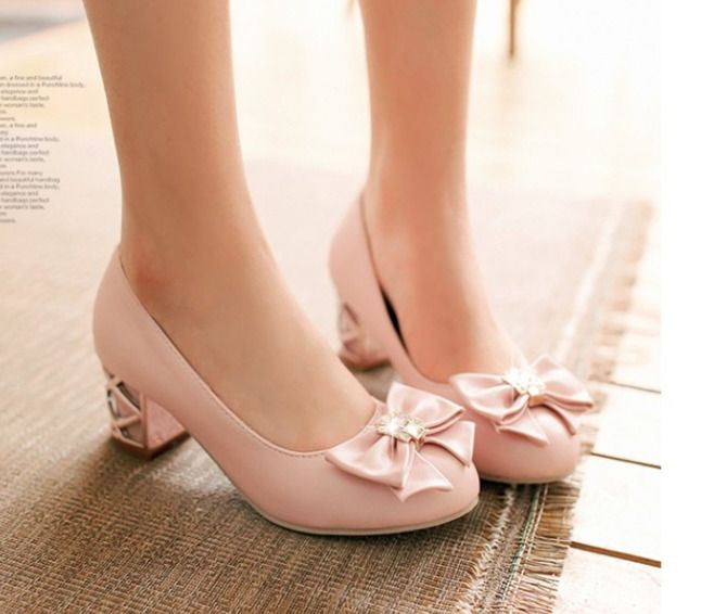 2018 Womens Lady Bowknot Lita Slip On Wedding Rhinestone Sequin Shoes