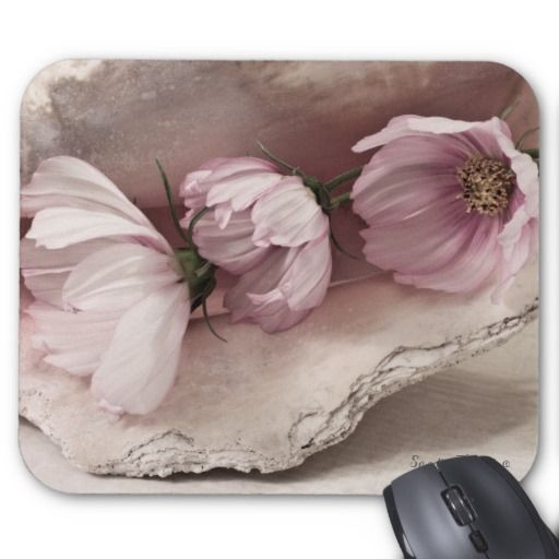 Three Pink Cosmos Mouse Pad
