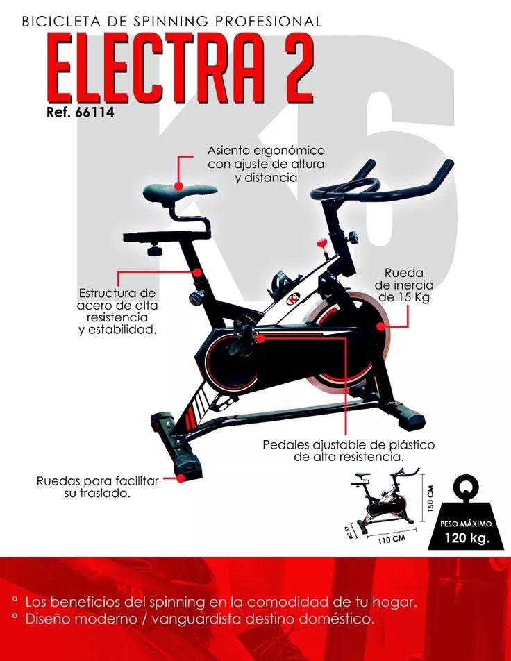 K6 Bicicleta De Spinning Mod Electra Ii Ref 66114 - Bs. 1.125.790,00 en Mercado Libre