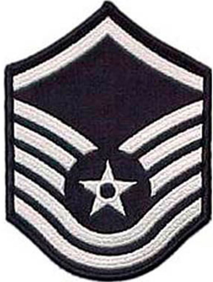 Air Force MSgt Blue Chevron Small Rank
