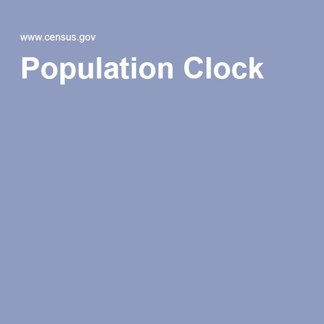 Population Clock - Great for teaching place value and unit rates!!!