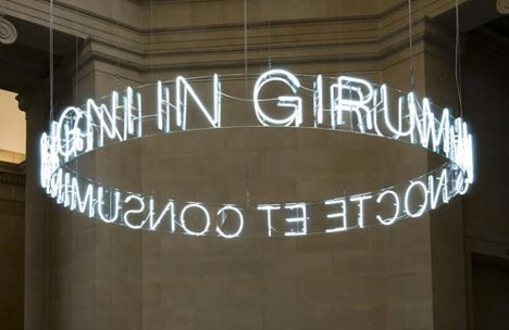 Cericth Wyn Evans neon light installations