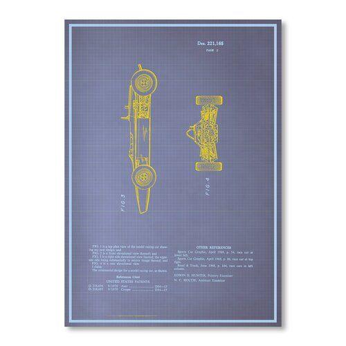 Modell Rennwagen II von Blue Print Images Graphic Art Americanflat Größe: 30 cm H x 21 cm B