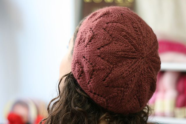 Meret (Mystery Beret) by Woolly Wormhead ¬ malabrigo Worsted in Cabernet ¬ free…