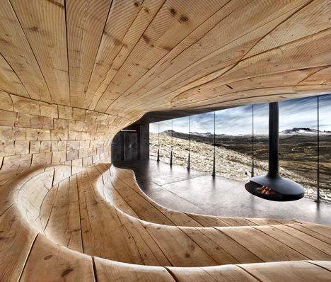 Интерьер бани необычного дизайна