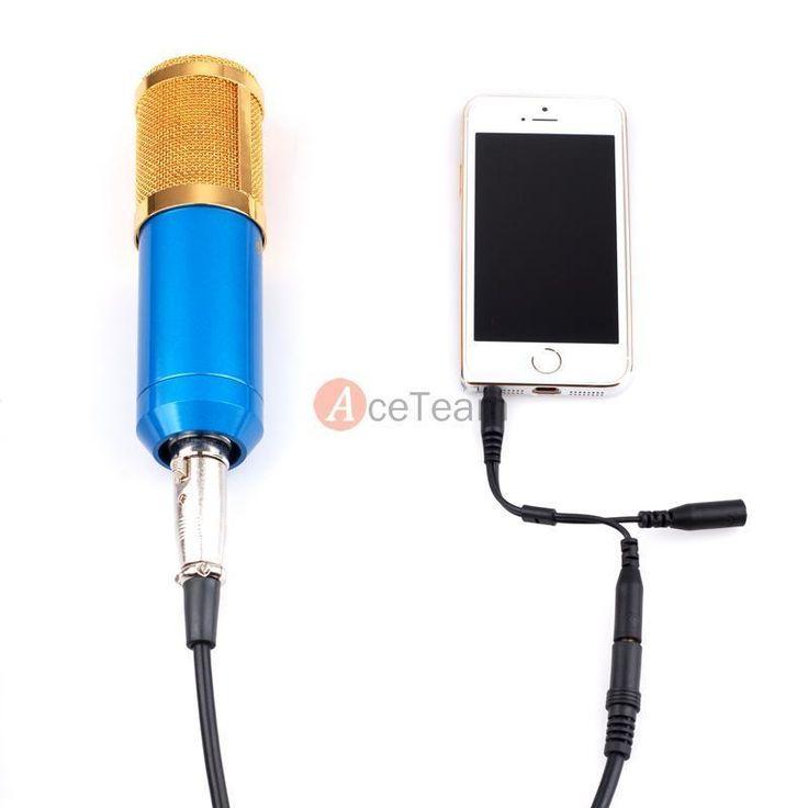 Professional Audio Condenser Microphone Mic Studio Sound Recording for Mac Phone
