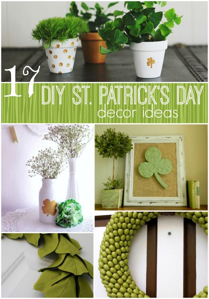 DIY St. Patricks day decorating ideas - st. patrick's day wreaths, crafts