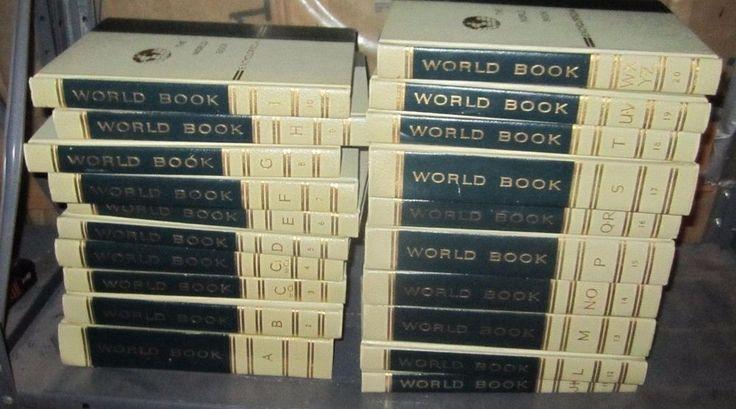 World Book Encyclopedia Complete 1965 set  20 books Hardcover