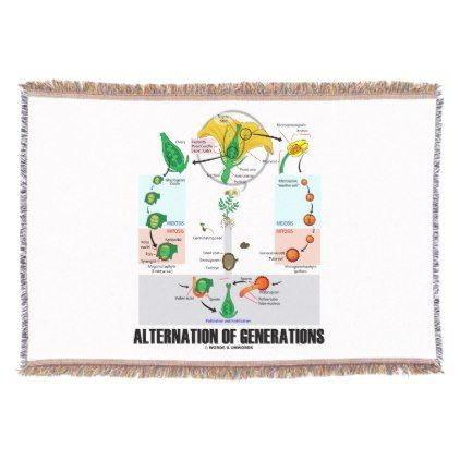 Alternation Of Generations Flower Life Cycle Throw Blanket - flowers floral flower design unique style