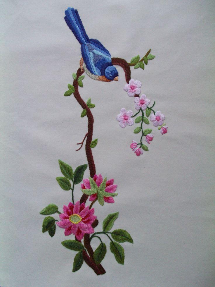 Flower and bird