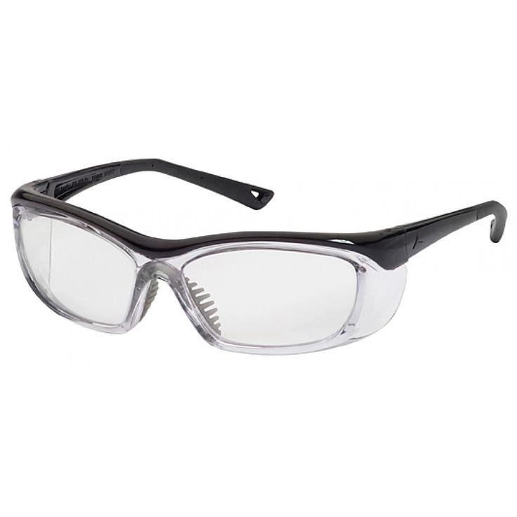 OnGuard 220S Prescription Safety Glasses, Clear & Opaque Black Non-Conductive Plastic Frame, #OG-220S-COB