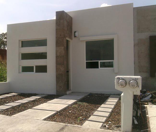Fachadas de casas modernas con piedras decorativas - Casas con chimeneas modernas ...