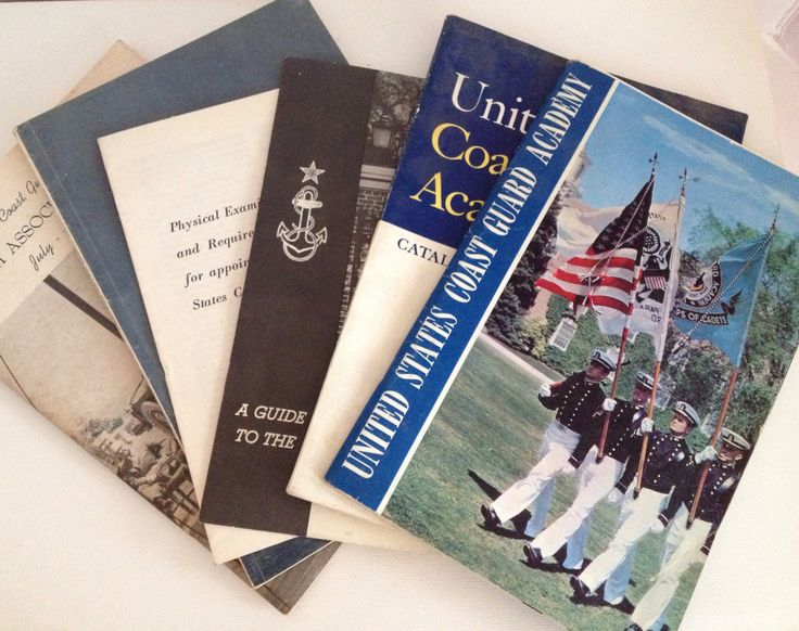 US Coast Guard Academy New London CT 1960s Lot of 6 Books Course Catalog Guide Alumni Bulletin Physical Requirements by aroundtheclock on Etsy